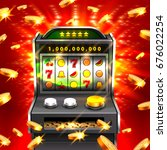 3d slots machine wins the... | Shutterstock .eps vector #676022254