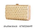 golden clutch bag isolated on... | Shutterstock . vector #676026649