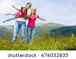 attractive family having fun in ...   Shutterstock . vector #676032835
