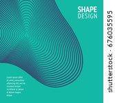 minimal cover. future geometric ... | Shutterstock .eps vector #676035595