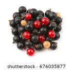 mix fresh ripe currant...   Shutterstock . vector #676035877