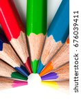 color pencils isolated on a... | Shutterstock . vector #676039411