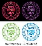 one hundred percent true love...