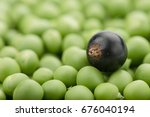 fresh green peas with berries....   Shutterstock . vector #676040194