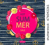 summer discounts. banner vector