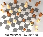 a played out set of chess | Shutterstock . vector #67604470