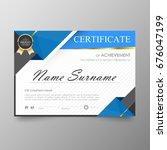 certificate premium template... | Shutterstock .eps vector #676047199