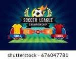 vector of soccer league... | Shutterstock .eps vector #676047781