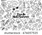 hand drawn vector illustration... | Shutterstock .eps vector #676057525