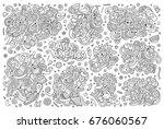 sketchy vector hand drawn... | Shutterstock .eps vector #676060567