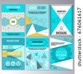 set of brochure design ... | Shutterstock .eps vector #676061617