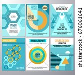 set of brochure design ... | Shutterstock .eps vector #676061641