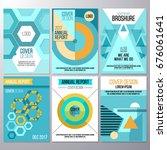set of brochure design ...   Shutterstock .eps vector #676061641