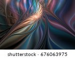 Abstract Glowing Exotic Flower...