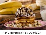 American Pancakes With Banana ...