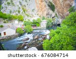 small village blagaj on buna... | Shutterstock . vector #676084714