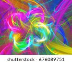 abstract fractal background 3d... | Shutterstock . vector #676089751