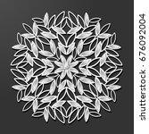 laser cut paper and diamond... | Shutterstock .eps vector #676092004