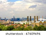 panoramic view of east london...