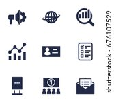 Set Of 9 Commercial Icons Set...