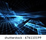 abstract technology...   Shutterstock . vector #676110199
