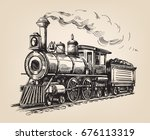 steam locomotive transport.... | Shutterstock .eps vector #676113319