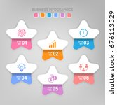 infographic template of six... | Shutterstock .eps vector #676113529