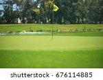golf course background | Shutterstock . vector #676114885