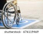 pavement handicap symbol and...   Shutterstock . vector #676119469
