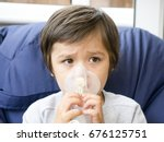 a boy have a problem with chest ... | Shutterstock . vector #676125751