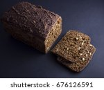 danish rye bread made from sour ...   Shutterstock . vector #676126591