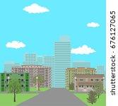 cityscape. vector illustration  ... | Shutterstock .eps vector #676127065