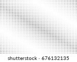 abstract halftone dotted... | Shutterstock .eps vector #676132135