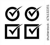 check mark icon vector set | Shutterstock .eps vector #676132351