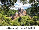 medieval eltz castle nestled in ... | Shutterstock . vector #676149001