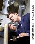 health inspector looking at...   Shutterstock . vector #676151221