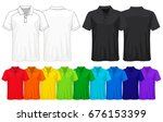 set of templates colored t... | Shutterstock .eps vector #676153399