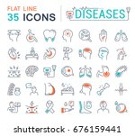 set vector line icons  sign and ... | Shutterstock .eps vector #676159441