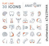 set vector line icons  sign and ... | Shutterstock .eps vector #676159444
