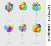 vector set of realistic... | Shutterstock .eps vector #676161061