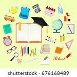 school. college. training.... | Shutterstock .eps vector #676168489