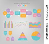 infographic template collection ... | Shutterstock .eps vector #676170625