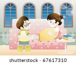 living a happy pregnancy | Shutterstock .eps vector #67617310