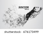 soccer of the particles carries ... | Shutterstock .eps vector #676173499