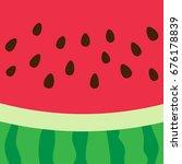 vector background of watermelon ... | Shutterstock .eps vector #676178839