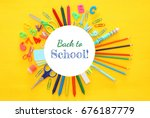 back to school concept on... | Shutterstock . vector #676187779