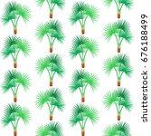 tropic palm tree seamless...   Shutterstock .eps vector #676188499