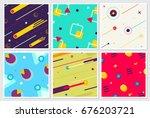 memphis new style large...   Shutterstock .eps vector #676203721