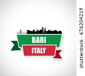 bari skyline   italy   ribbon... | Shutterstock .eps vector #676204219