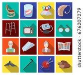 armchair  slippers  tonometer... | Shutterstock .eps vector #676207279
